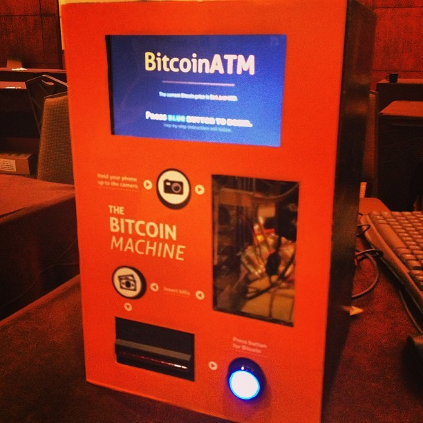The first EVER bitcoin ATM. I was out of cash, so the guys lent me a dollar to purchase like .036 bitcoins. So now I has a bitcoin wallet. (hier: Grand Hyatt Washington)