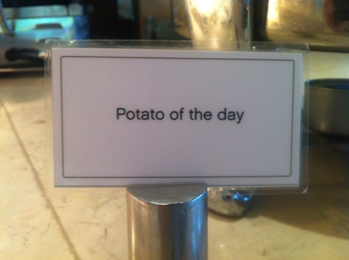 Potato of the day.