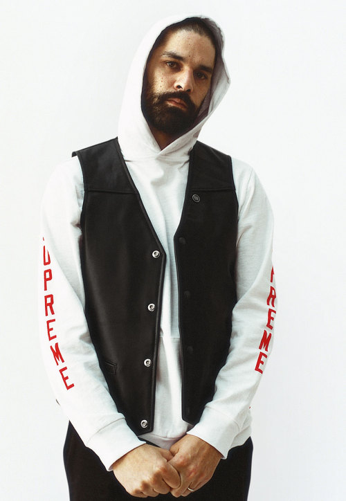 supremeny:  Spring/Summer 2013 Supreme/Schott Vest L/S Athletic Hooded Top Work Pant