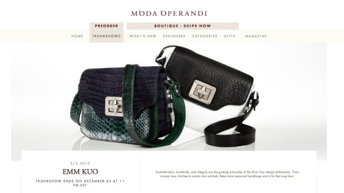 Our S/S 13  trunkshow is now live on Moda Operandi