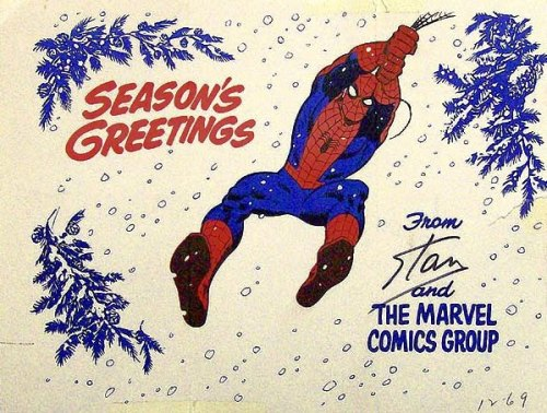 Marvel Comics Christmas card, 1969.