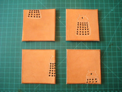 robinfitzsimons365:  Day 94: Leather Dalek Coasters December 21, 2012 EXTERMINATE!