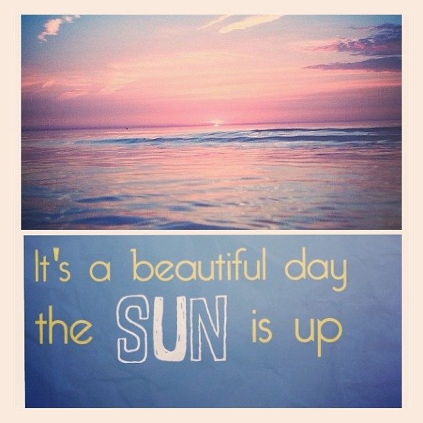 • Good Morning - Kitty #instacollage #sun #beach #sunrise #words
