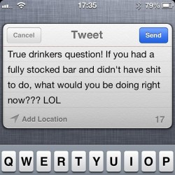 Drinkers question