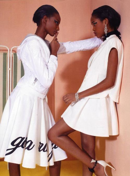 Sheena Moulton and Marihenny Rivera Pasible - Vogue Italia February 2012
