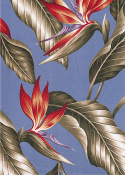 (via Wali - Bird Of Paradise Fabric - Barkcloth Hawaii - Timeless Hawaiian Fabrics For your Home & Body Tropical Hawaiian Vintage bird of paradise flowers, cotton apparel fabric.)