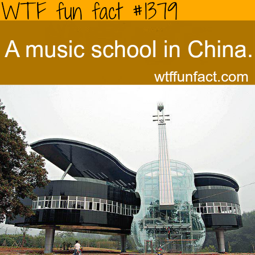 wtf-fun-factss:  best architecture : music school in china WTF FUN FACTS HOME / SEE MORE tagged/places FACTS