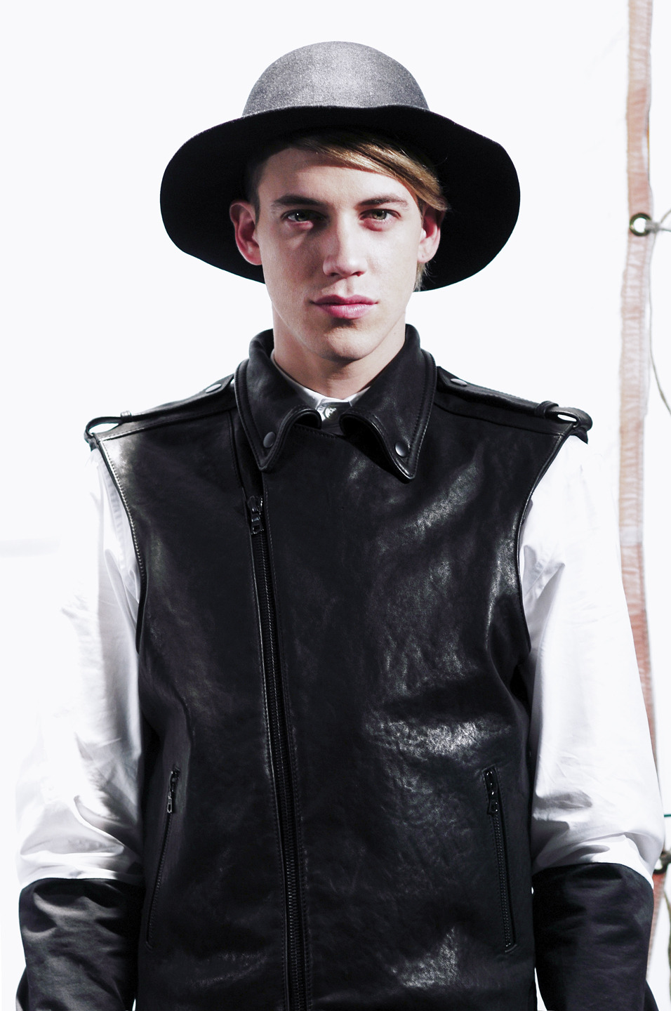 Eric at the Public School  FW '13 presentation @ Milk StudiosBy Miguel Yatco