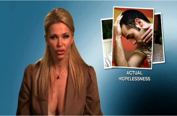 Infomerciless ExtaMax is humiliation porn: viciously misogynistic, unforgiving, and bleak. It preys on the desperate in a way that is so blatantly contrived, but also brutally effective and constructed like every other infomercial: Here we are, alone, in the dark, thinking about what's wrong with us, listening to a confident woman holding a microphone and telling us unequivocally that we are defective and hopeless. They make statements that are dire and absolute; there are magnified images of the spectacular, craterous pores of a person who is not you but who is maybe sort of you. There is such a shocking, vivid element of the ridiculous in infomercials because they are serving this to the delusional, to the helpless, to the obese, the naive, the damaged, the heathens, the women with psoriasis, the men with shriveled, runty dicks. Infomercials reduce you to nothing so that you will need their products to survive. We're here with Jennifer, whose face looks like a pastrami sandwich. Jennifer, would you like to not have a face like a pastrami sandwich? If you have watched television after two in the morning then you have been relentlessly reminded that you are wrong. All of you: your bald head, your posture, your breath, your epidermis. Delirious televangelists thundering like Lenin at the podium, telling you your attitude is wrong, too, but that he will save you. It will only take 26 minutes + shipping and handling. Infomercials are their own revolution, wise and inspiring only in that their audience needs them to be.  Continue