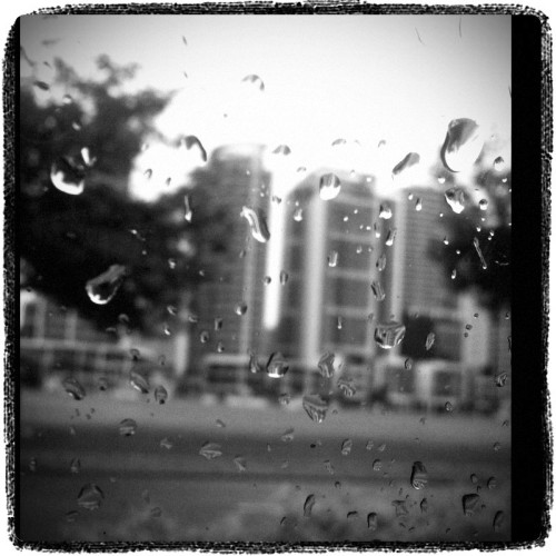 Driving in the #rain . #city . #macro (Photo taken and uploaded via MOLOME )