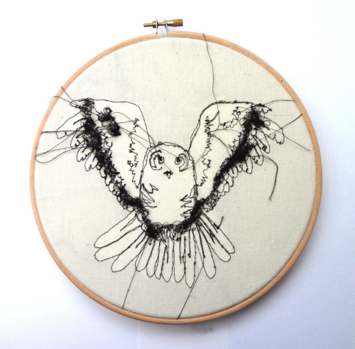 "Embroidery Owl 8"" Hoop (by RosieG Embroidery)"