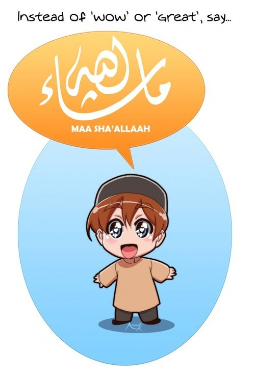 moerf67:  Say MashAllah Poster | Quotes, Posters, Drawings, Calligraphy, and Photos bei @weheartit.com – http://whrt.it/Y7BkBi