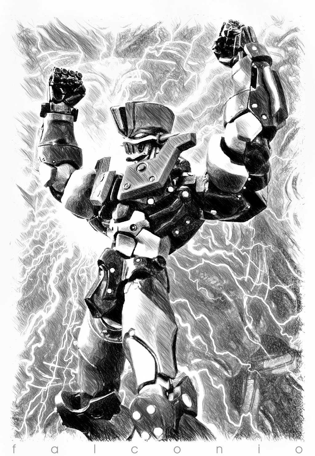 Mazinger 1901 03A mono by ~AngeloFalconio