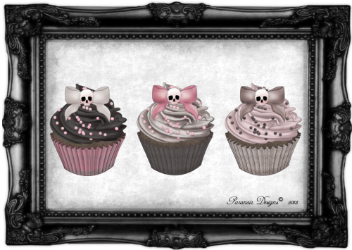 paranoirdesigns:    Creepy cupcakes by Paranoir Designs ©