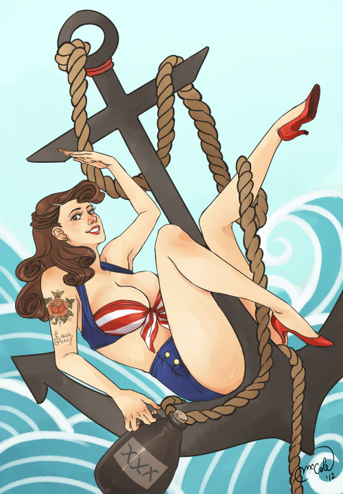 Piece for a Gallery Show in honor of Sailor Jerry's Rum last year!