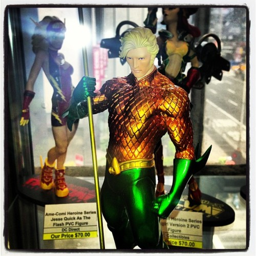 midtowncomics:  Aquaman artfx statue (at Midtown Comics)  Yo why is he so hot tho?