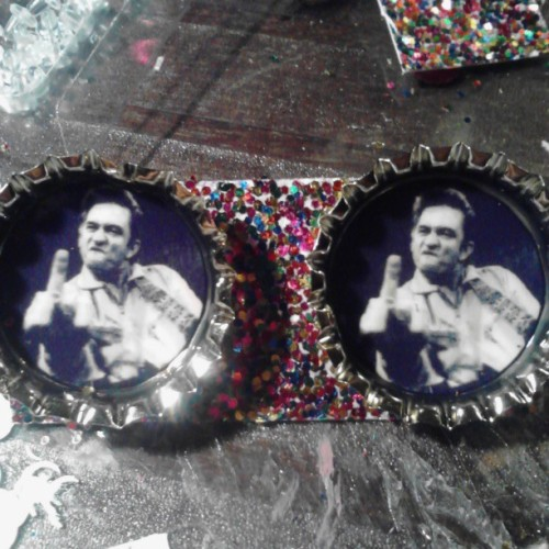 Johnny cash earrings