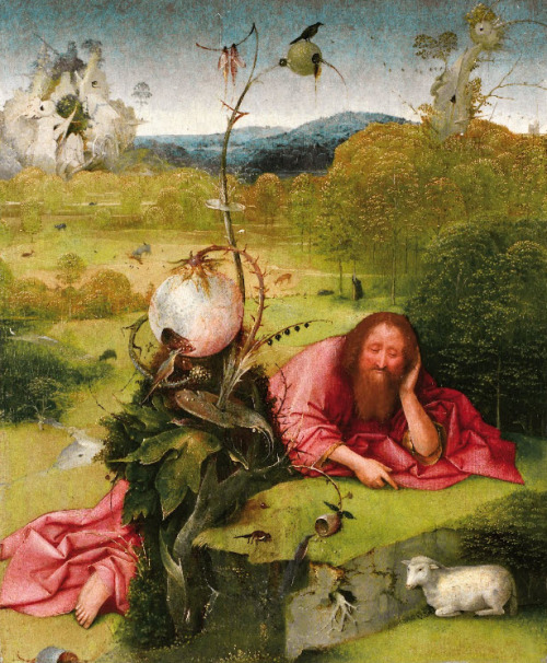 snowce:  Hieronymus Bosch, Saint John the Baptist in the Desert, End of the 15th century