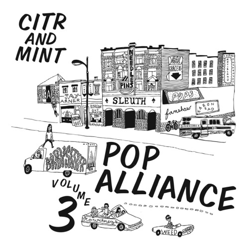 duncanmm:  Volume 3 of the CiTR/Mint Pop Alliance comp out March 5th! Artwork by Melanie Coles. Mastered by Jay Arner. Featuring:MovielandPeaceJay ArnerGal GracenPupsFanshawAaron ReadKorean GutNeedles//PinsThe CourtneysBabysitter