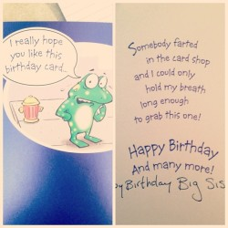 Couldn't have found a more perfect card. Happy birthday @kellylynnhill