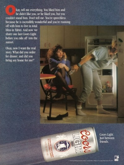 #1990, #coors, #coors_light, #liquor, #beer, #drinks, #vintage_ads