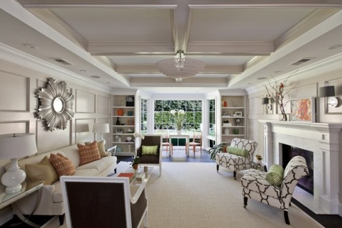Lovely long living room.
