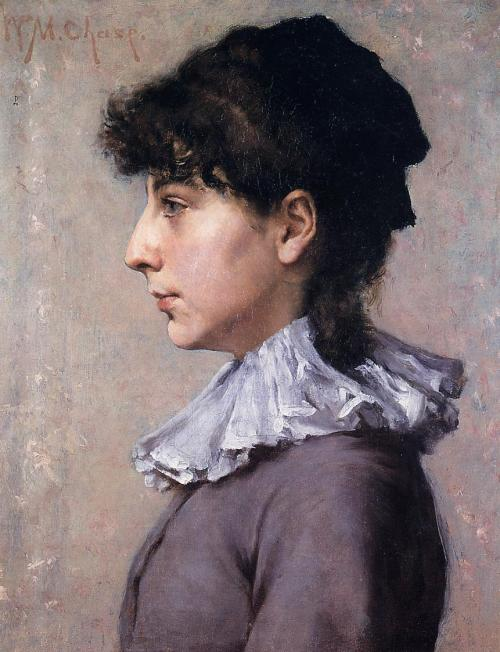 Portrait of Virginia Gerson 1880, by William Merritt Chase