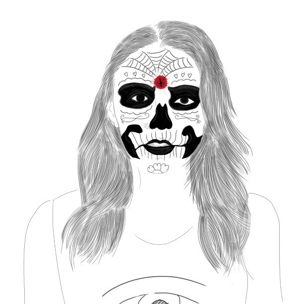 Lana Del Rey, The Day Of The Dead ! #Indonesia #illustration #detail #masterpiece #creative #graphic #design #art #instadaily #instagood #instamood