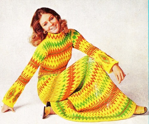 Knit dress by McCalls, 1972.