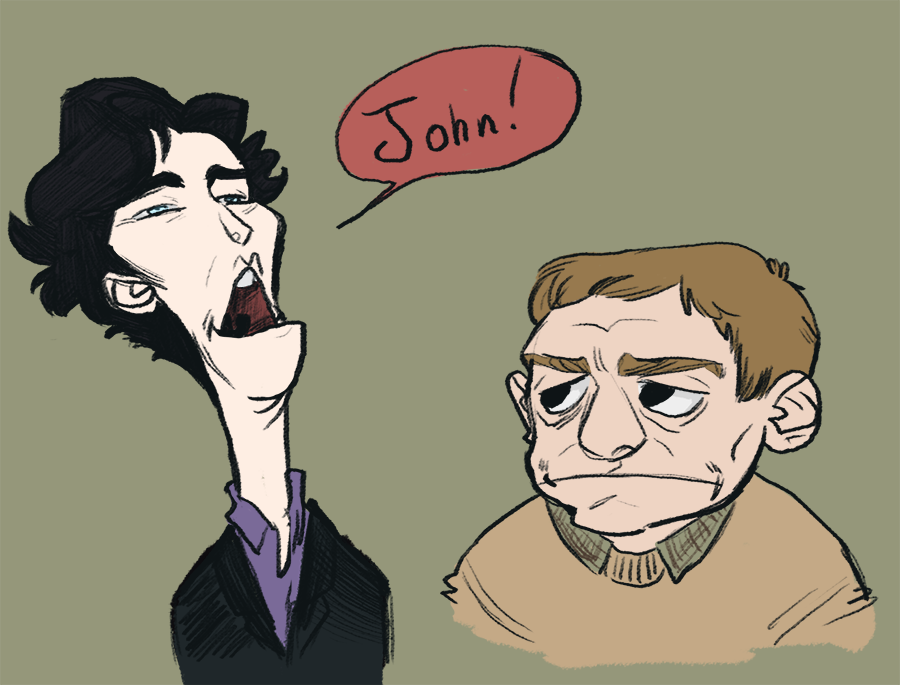 justmysillydoodles:  I got into the habit of drawing people like muppets… and… I…