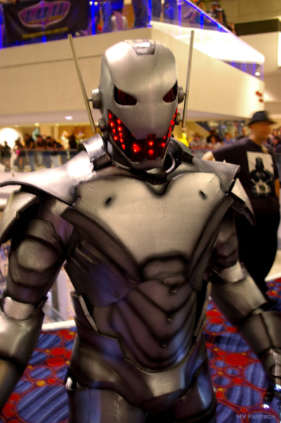 The Age of Ultron: Submit or Perish. - Dragon*Con 2012 | photo by MV Partsch  {via buckybird | gailsimone | americancomicon}