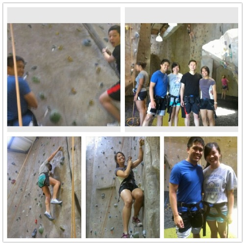 Finally got to use our Texas rock gym groupons! So tiring. But fun!