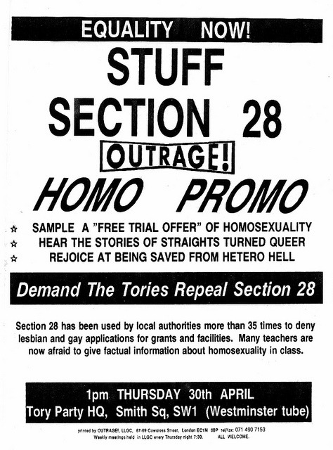 'Section 28' Sample a free trial offer of Homosexuality
