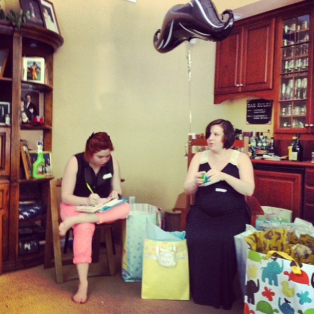 #mustache themed #babyshower for Kristen. #sisters