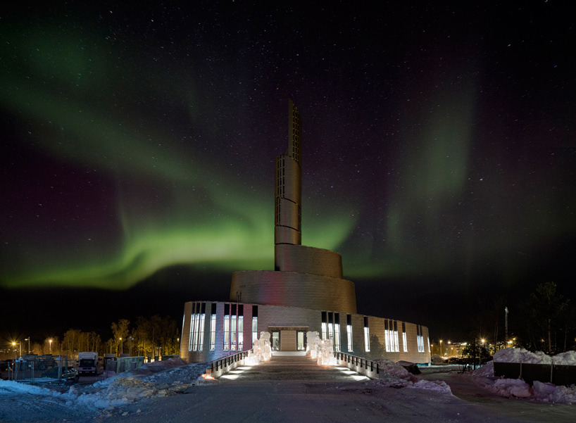 letsbuildahome-fr:  Cathedral Of The Northern Light Architects: Schmidt Hammer Lassen Location: Alta, Norway Picture: Adam Mørk