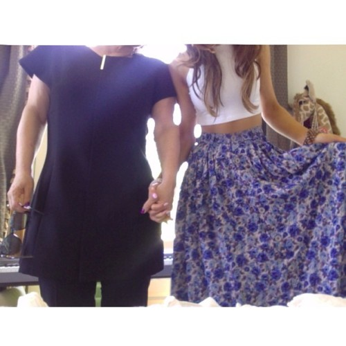 arianaaagrandeee:  Outfits of the day with Momma