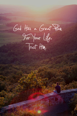 spiritualinspiration:  'For I know the plans I have for you,' declares the LORD, 'plans to prosper you and not to harm you, plans to give you hope and a future.' Jeremiah 29:11, NIV. The scripture tells us that without vision, people perish. If you don't have a dream or vision for your life, then you're not really going to reach your fullest potential. Maybe at one time you had a dream, but you went through some disappointments or setbacks. Things didn't turn out the way you planned. But here's a key: when one dream dies, dream another dream. Just because it didn't work out the way you had it planned doesn't mean that God doesn't have another plan. You cannot allow one disappointment or even a series of disappointments to convince you that your dream is over. It's time to dig your heals in and hold on to the promises in your heart. Stir up those God-given dreams today and watch Him pour out His favor and blessing upon you and fulfill every desire in your heart!