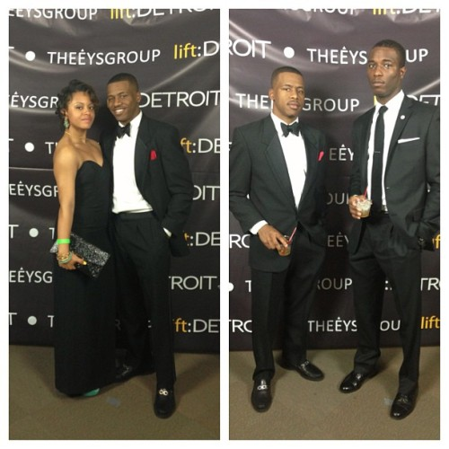 Lift Detroit Gala with my date @elleisforlaugh and my bro @sanderslj
