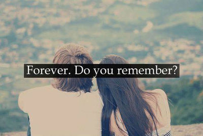 I said Forever before. That means it's still true now.