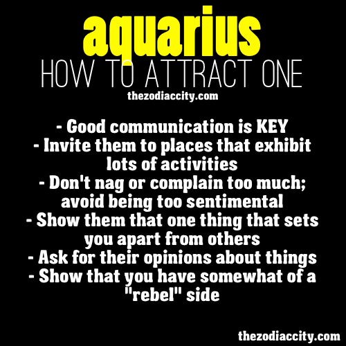 zodiaccity:  How to attract zodiac Aquarius.