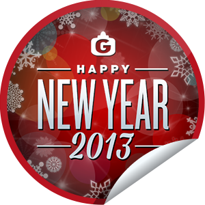 I just unlocked the Happy New Year 2013 sticker on GetGlue                      27336 others have also unlocked the Happy New Year 2013 sticker on GetGlue.com                  Hey there, you made it! Welcome to 2013!