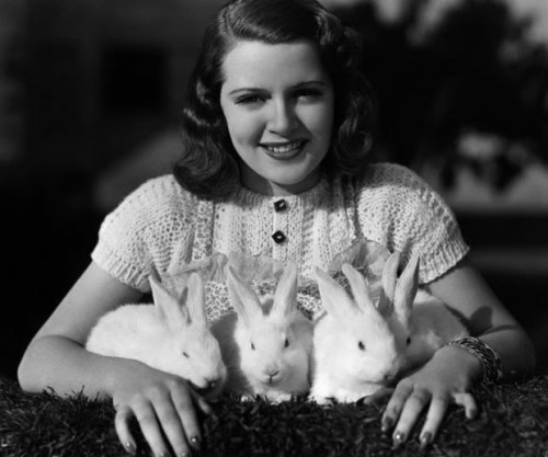 Lana Turner and some little Easter friends - c. 1930's
