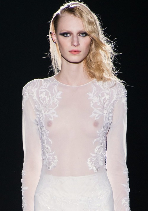 puccimane:  hautekills:  Julia Nobis at Francesco Scognamiglio f/w 2013  everyone is a nobody but julia