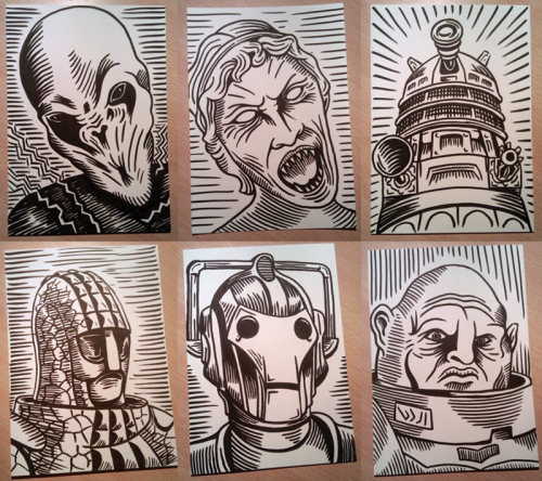 doodledojo:  I've opened a Doodle Dojo Etsy shop and put up some of my Doctor Who Villain sketches. If you feel a need to cover your walls in scary bad guys, check it out. Doodle Dojo | Facebook