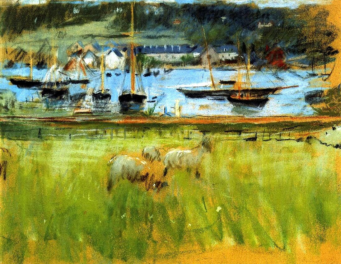 bofransson:  Harbor in the Port of Fecamp Berthe Morisot - 1874
