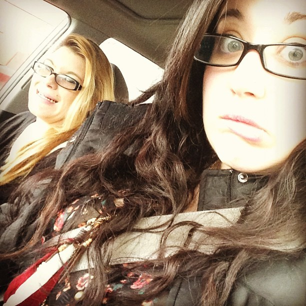 #yesterday #rav4 #inthecar with Dreaaaa! #friends #sillyfaces #goodtimes #errands #random #driving #lol #memyselfandi