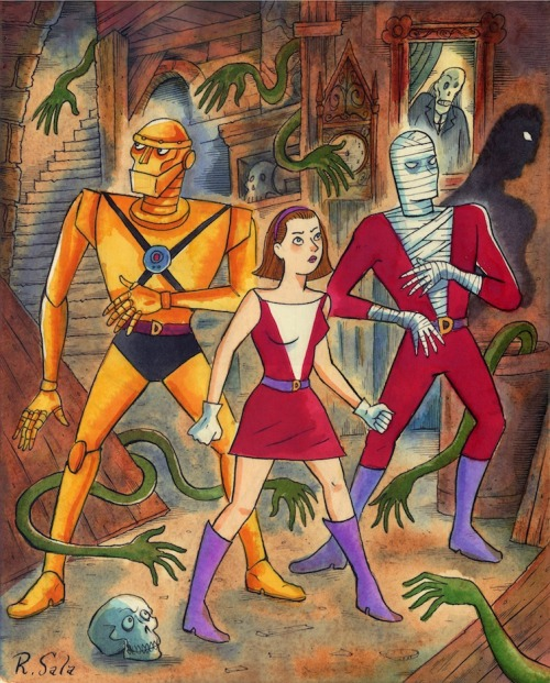 next-imaginaut:  Pinup of the Silver Age Doom Patrol, Richard Sala.