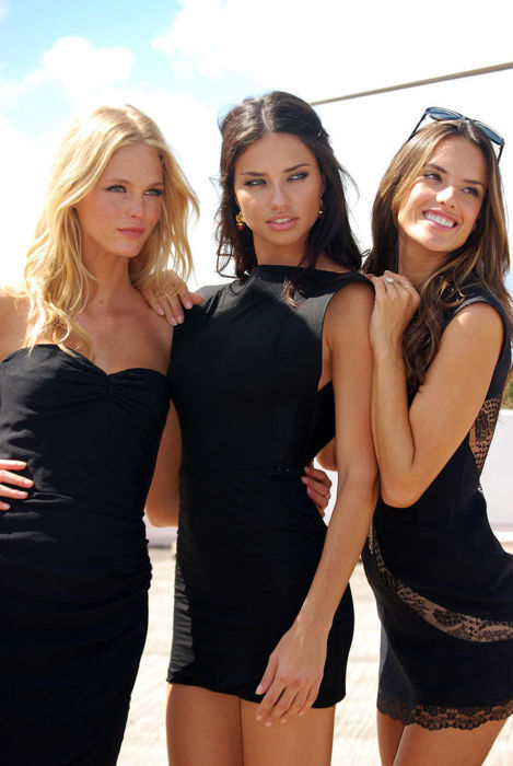 From left to right: Erin Heatherton, Adriana Lima, Alessandra Ambrosio