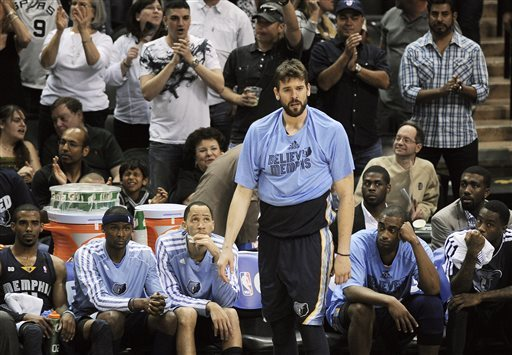 Marc Gasol and the saddest t-shirt wearing of the playoffs.