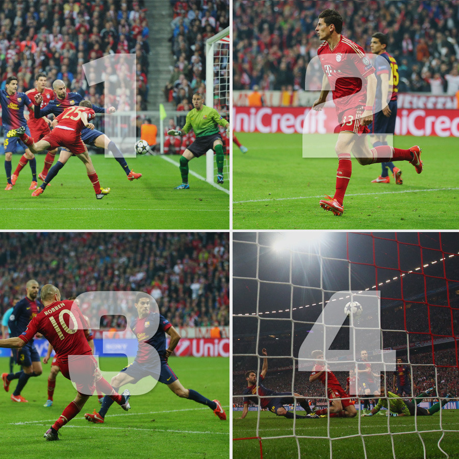 Bayern Munich make it look as easy as 1,2,3…4!